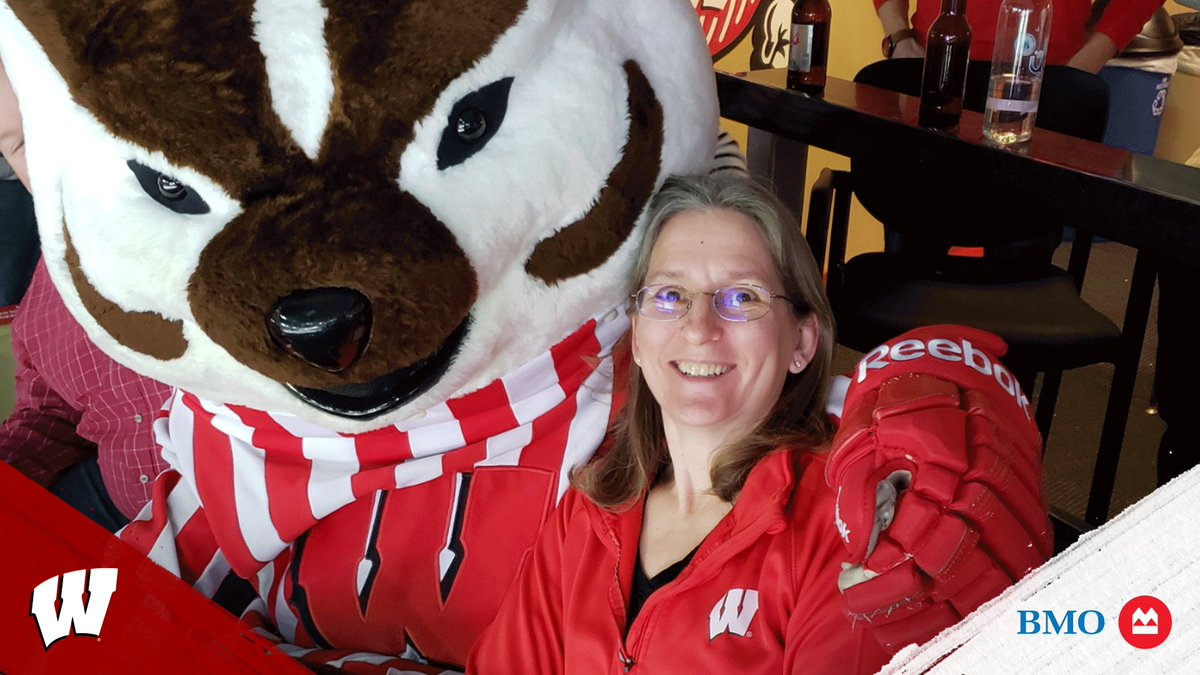 25 year @BadgerMHockey season ticket holders, Steve and Mary witnessed the 2006 Championship but said their favorite memory was skating on the Kohl Center ice with their son's mites team!   Congratulations to today's @BMOHarrisBank Season Ticket Holders!