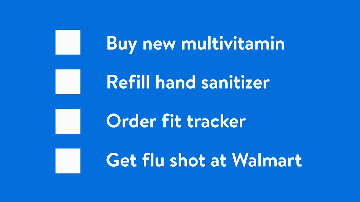 It's not too late to protect yourself against this year's flu virus & get the satisfaction of checking something off your to-do list—it's a win, win. ✔️ Schedule your flu shot today & do your #ImmunityService. 😊 #WalmartWellness