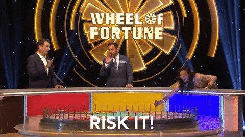 Playing it safe? Never heard of it 🤷♀️  #CelebrityWheelOfFortune @RobRiggle @JoeTessESPN @jeanniemai