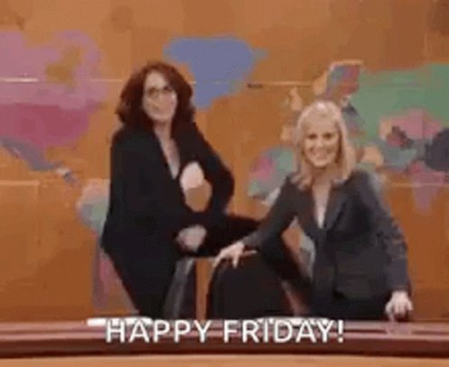 Hey hey Fri-yay! What's your mood? Show us in a GIF. #finallyfriday #FridayFeeling