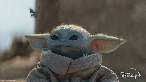 #RadicalLeftistAgenda watching baby yoda on Disney plus