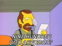"""Every time Rupaul says """"dollars"""" on Drag Race all I hear is this.  #DragRace #simpsons #dollarydoos"""