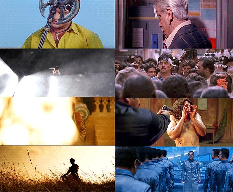 Iconic shots of top South directors 🔥   Who's your favorite?   Shankar ⚔️ Rajamouli   follow 👉@Binged_ for OTT Scoops.