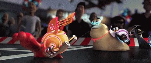 WOH! That snail is fast! #SaturdayThoughts