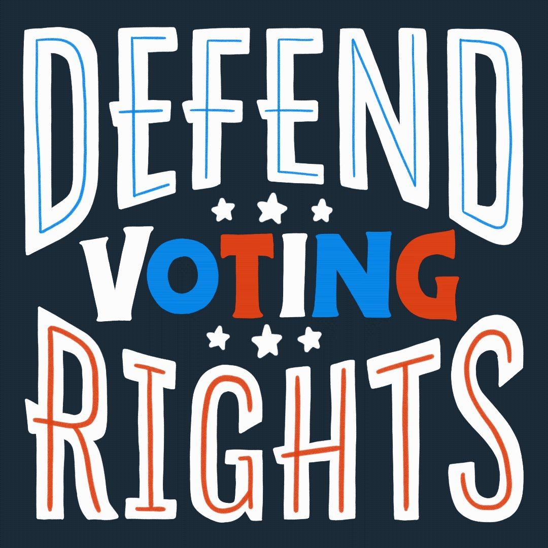After a year of unprecedented voter accessibility AND turnout, some of our leaders are working to further restrict our voting rights.   Our work won't stop until every voter has equal access to the ballot box.   🎨: @IntoActionUS