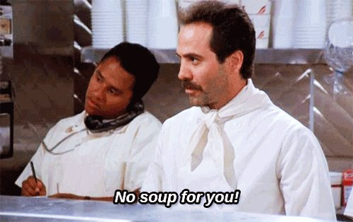 #IOwnARidiculousAmountOf soup & sex, considering I'm not getting any...