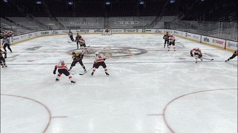 P2 | 2-1 | C. Smith (1) Coyle (1), Lauzon (1)  Nouveau tir relâché par Carter Hart des #AnytimeAnywhere , après une belle attaque menée par la 3e ligne. Craig Smith reprend le palet et marque son 1er but sous les couleurs des #NHLBruins .