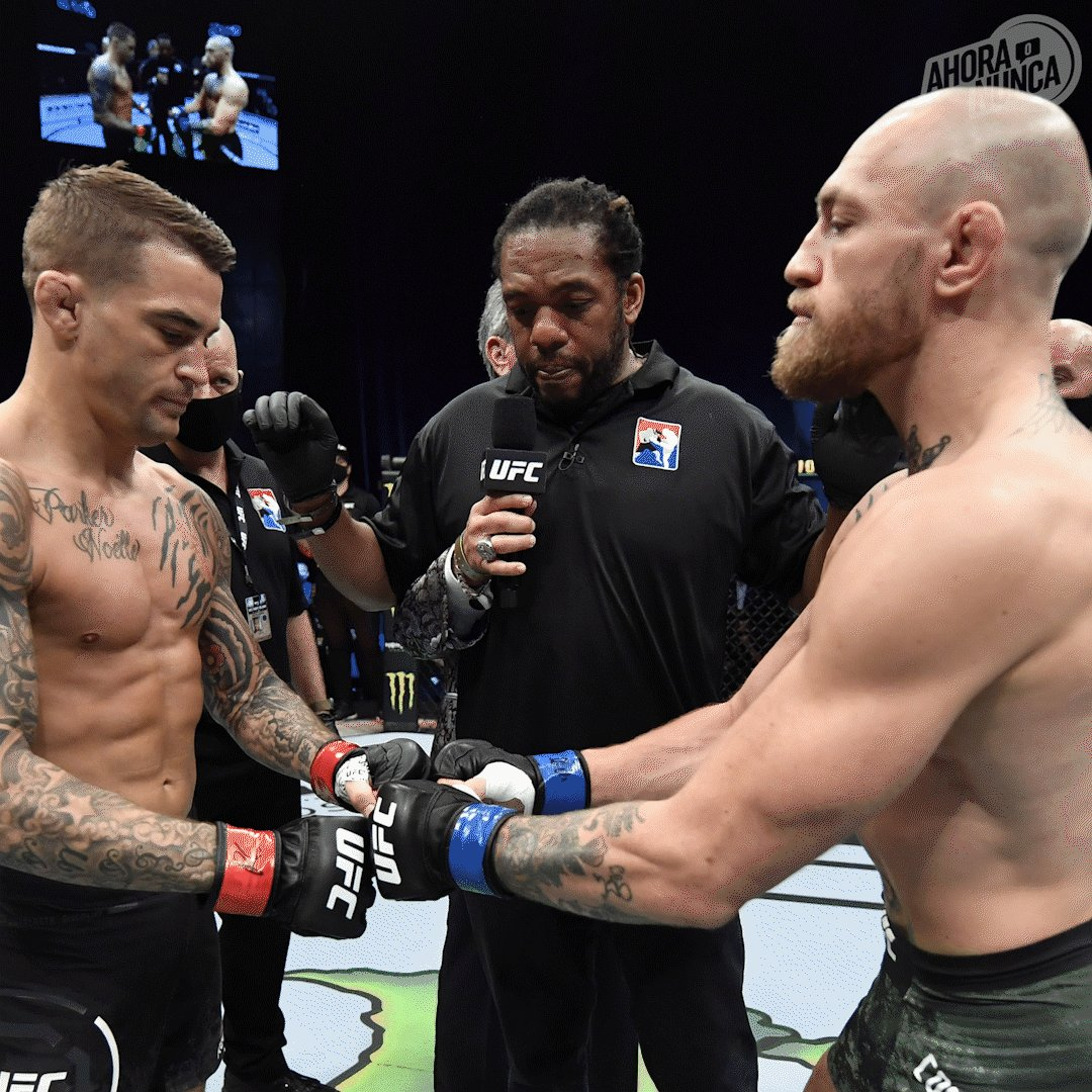 La revancha es dulce. 🍭  @DustinPoirier brilla hoy 💎  #UFC257 #ESPNPlus