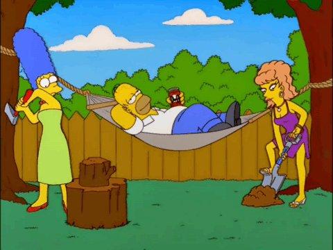"Replying to @SimpsonsQOTD: ""Chop chop, dig dig. Chop chop, dig dig."""
