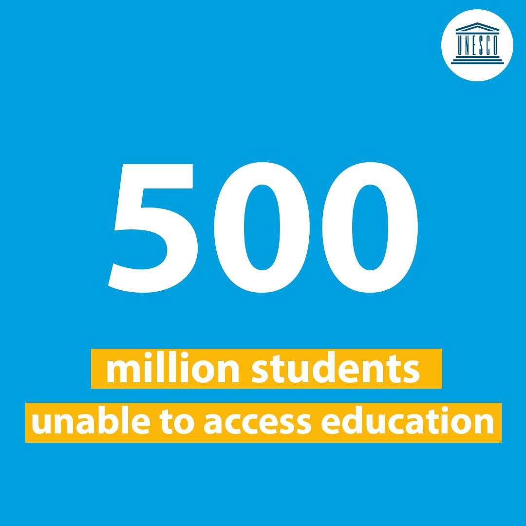 500 million students are unable to access #education due to the shift to remote learning. We cannot allow this to happen!  On #EducationDay, join our call to make sure that #LearningNEVERstops for anyone!  📚  #PowerEducation #Covid19