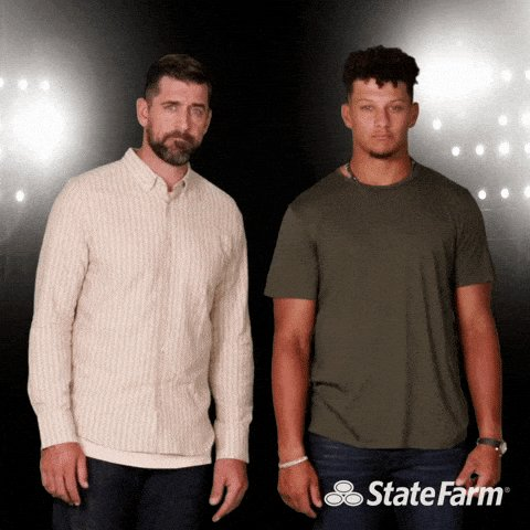 How bad did @StateFarm want the #RogersRate vs. #PatrickPrice in the #SuperBowlLV   I bet they had #commercials locked and loaded.  #TBvsGB  #BUFvsKC