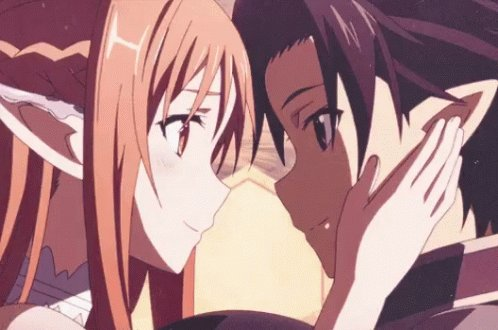 I wanna find someone that looks as me like Asuna looks at Kirito. #anime #Single #Lonely #Shy #Nerd #Gamer #Gaming #Love #Dating #singlelife