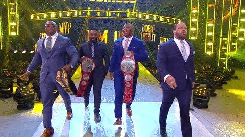 The Hurt Business looks like 💰.  #WWERaw