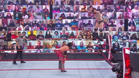 Pinpoint accuracy!  #WWERaw @TheRealMorrison @WWESheamus