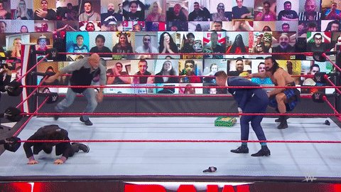 Spear of Claymore? #WWERaw #RoyalRumble  @Goldberg @DMcIntyreWWE