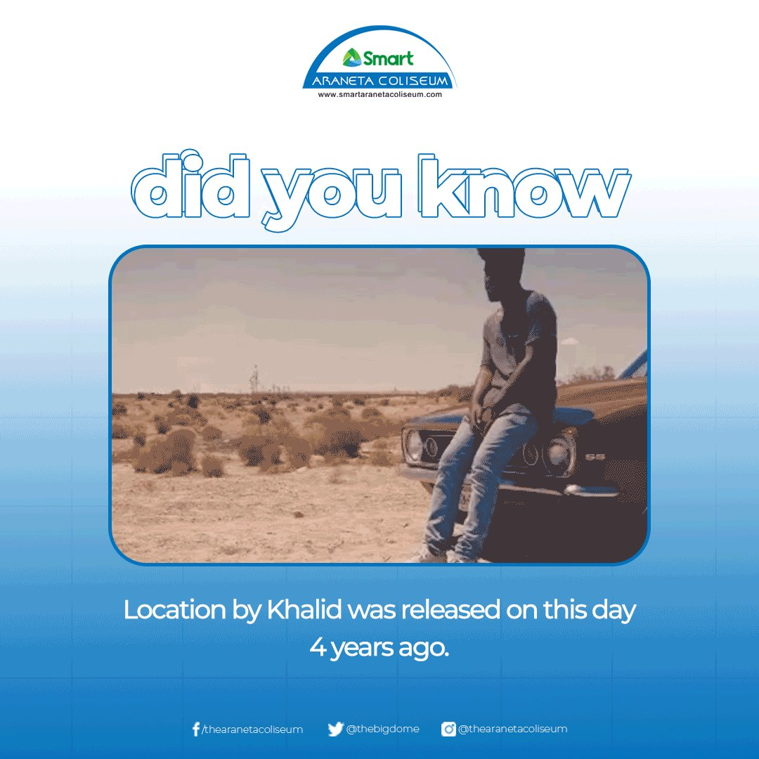 #BigDomeFunFact: Did you know that Location, a debut single by Khalid was released on this day 4 years ago? 🤩✨  #SongOfTheDay #Khalid #trivia #TheBigDome