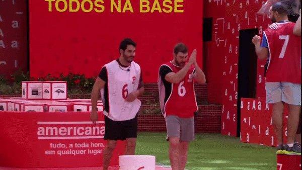 Replying to @bbb: 🌟 Prova de Imunidade #BBB21: Caio e Rodolffo são os primeiros a deixar a Prova • #RedeBBB