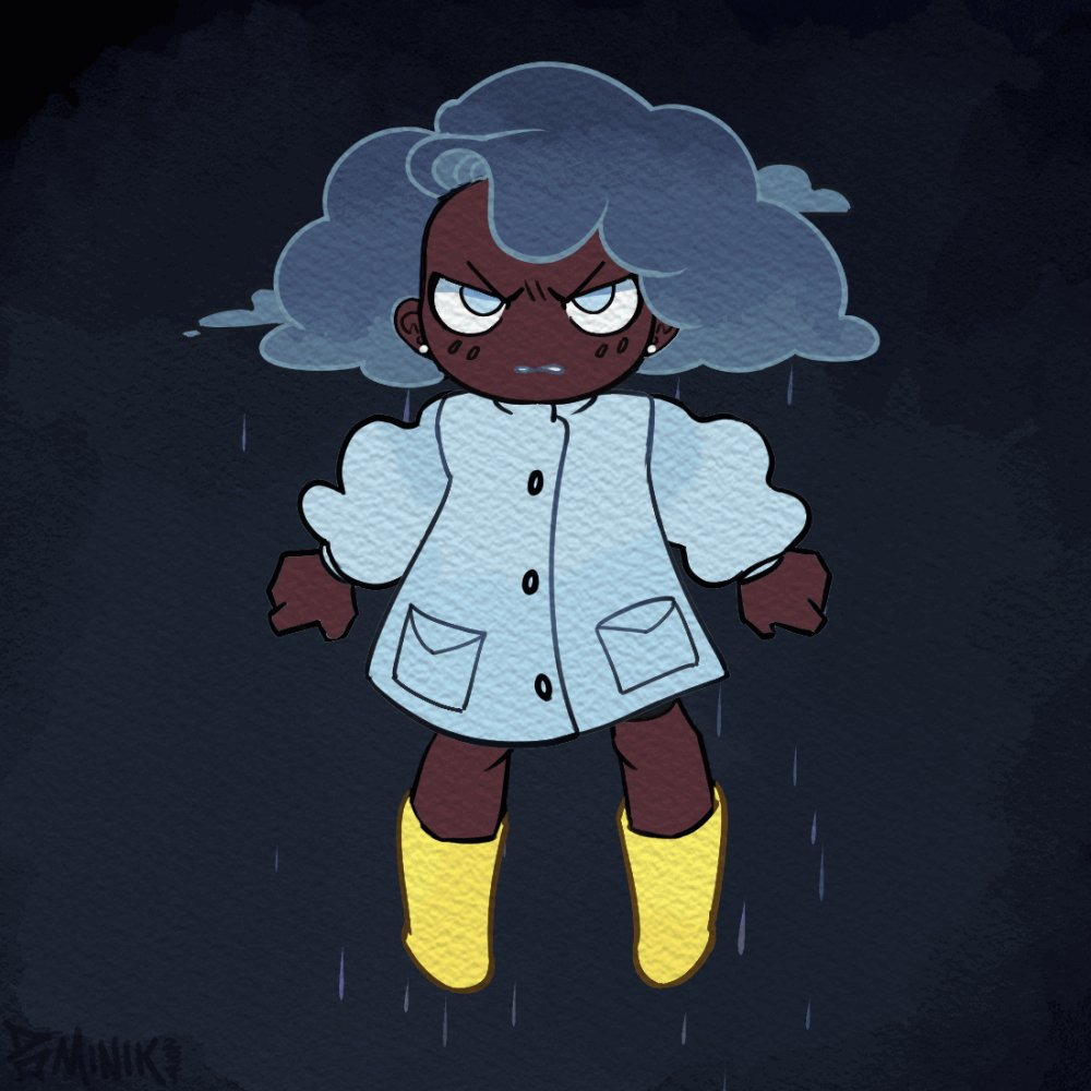 Been admiring how cute @kianamaiart's cloud girl OC is, so i animated~ ⛈️ someone has a big storm comin'🌩️