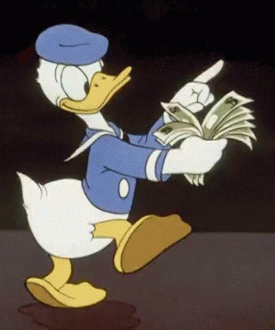 Donald Duck Money GIF