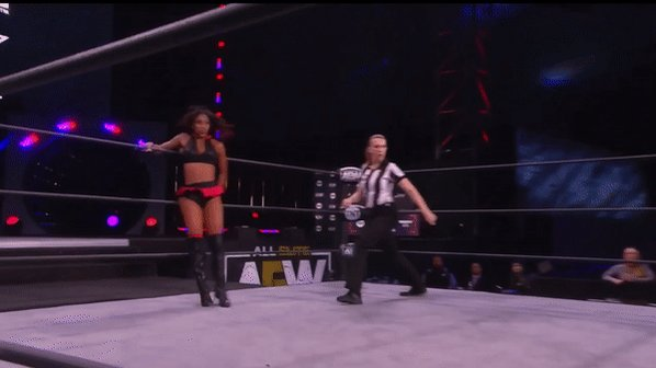 @Thee_Red_Velvet with the knockout blow! #AEWDark