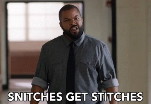 Did you get stitches for being one of those snitches? #StupidInjuryQuestions