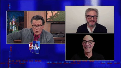 Colin Firth and Stanley Tucci star in the new film #Supernova and they'll be on A Late Show together! #LSSC