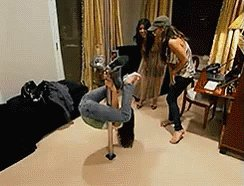 "Jen impressing the girls with her ""pole dancing"" #RHOD"