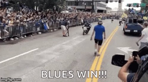 Binnington saves the day. Saved the #stlblues asses in OT, saved the Blues asses in the shootout.  We don't deserve it, but we'll take the two points nonetheless.