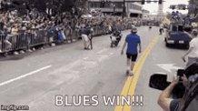 Hot damn! Blues win! #stlblues