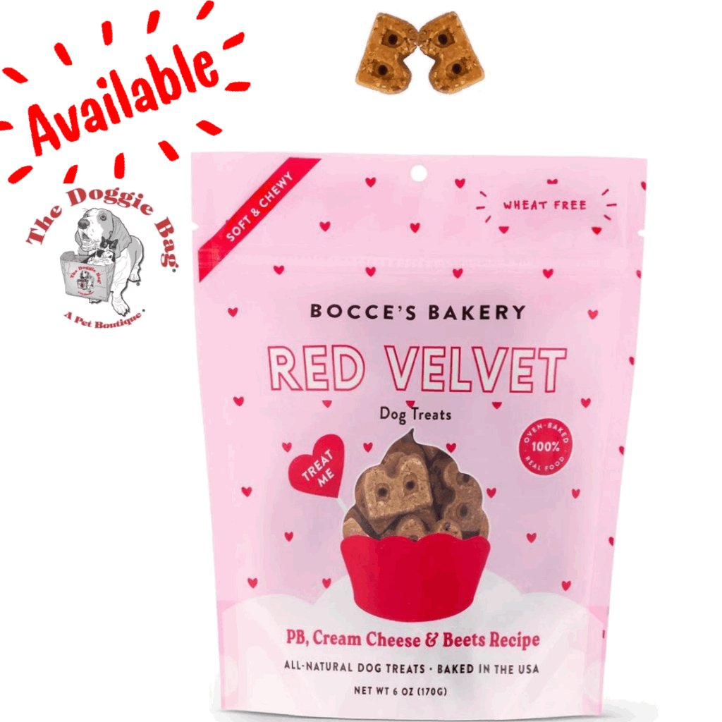 Love is in the air @doggiebagboutique ❤️❤️ #BoccesBakery Red Velvet 🧁soft & chewy Treats are in the house! Grab a bag ( or 2) before they're gone!👅  #dogtreats #treatyoself #redvelvet #snacktime #happydog #treats #yummy #doglife #dogs #thedoggiebag #lakelandflorida