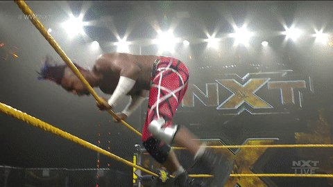 ...and all that to get swatted. #WWENXT @bronsonreedwwe @swerveconfident