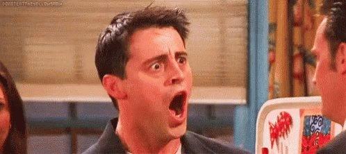 Shocked Joey GIF