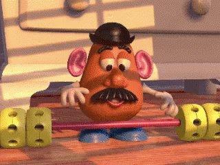 Mr Potato Work Out GIF