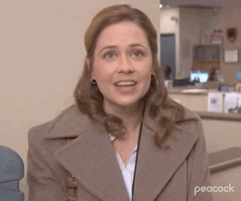 I Cant Jenna Fischer GIF by The Office