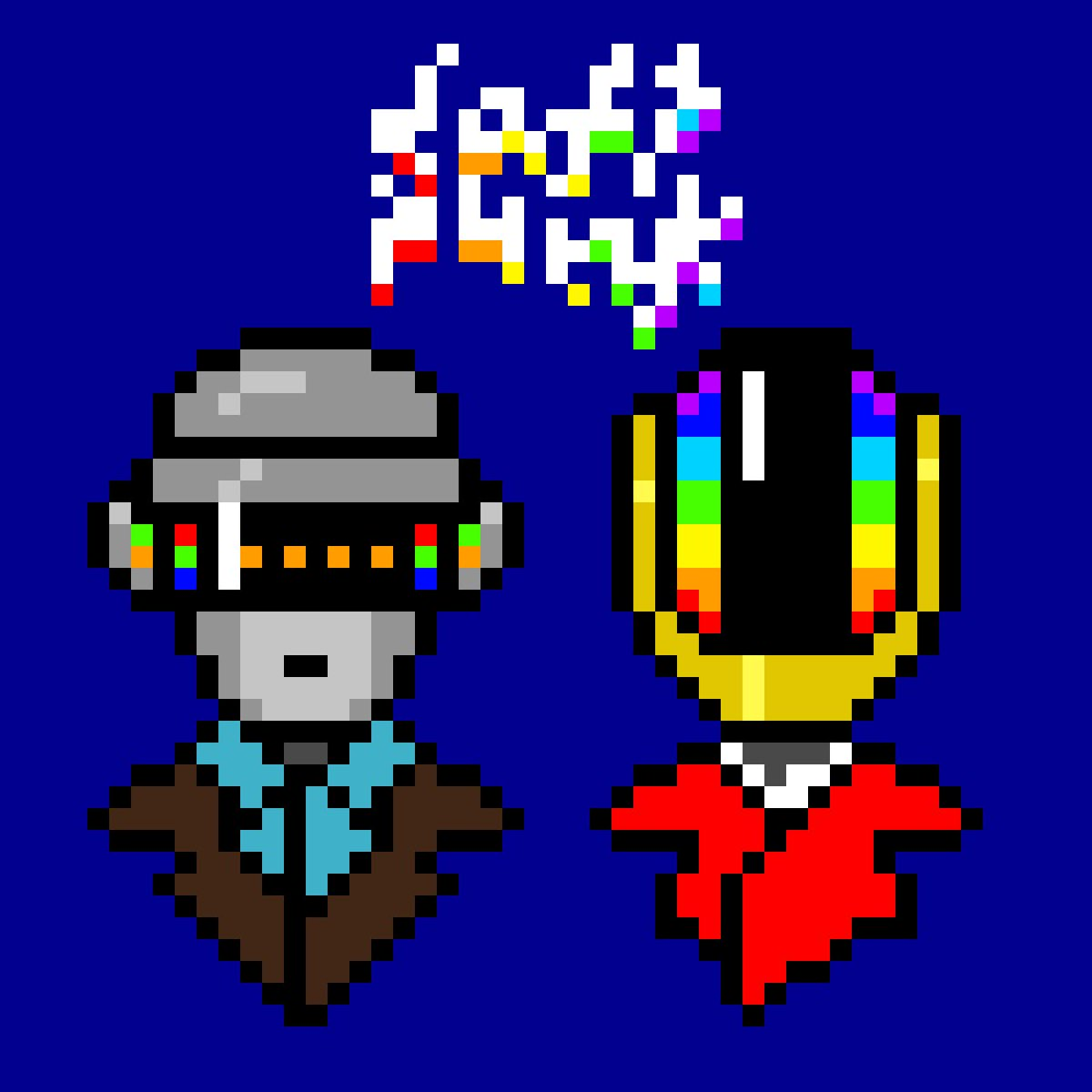 Mimlical: Mimlical: Mimlical: Mimlical: RT @mumu_thestan: One More Time for Daft Punk  I used to steal my brother's Discovery cassette all the time, along with his Linkin Park Reanimation cassette. 😭🤖  #DaftPunkForever #DaftPunk #pixelart #mumudrawss…