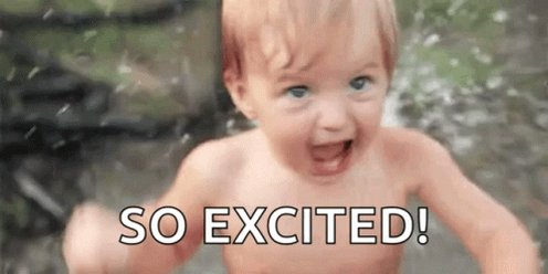 So Excited Baby GIF