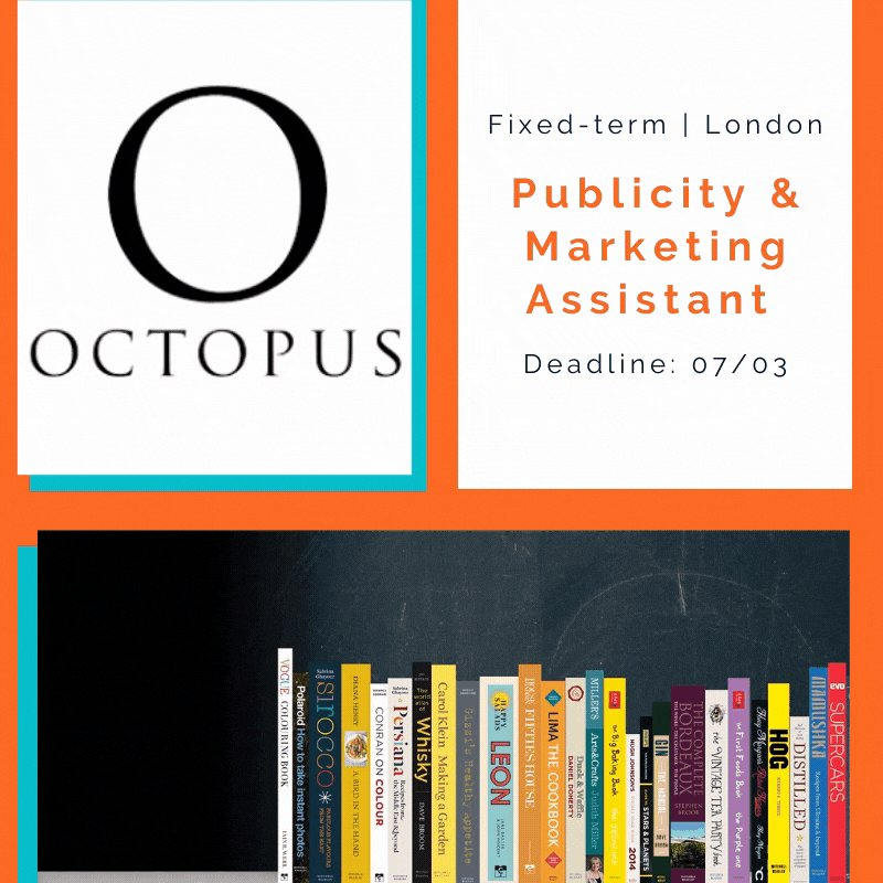 🤩Marketing lovers, look at this!🤩  Leading publishing house @Octopus_Books needs a Publicity & Marketing Assistant. Do you have good copy-writing skills & a strong interest in marketing? Then apply by 07/03.📚  ➡️https://t.co/PqUqr06rXR  #CAOPPS #MarketingJobs https://t.co/JsCIc0dUQV