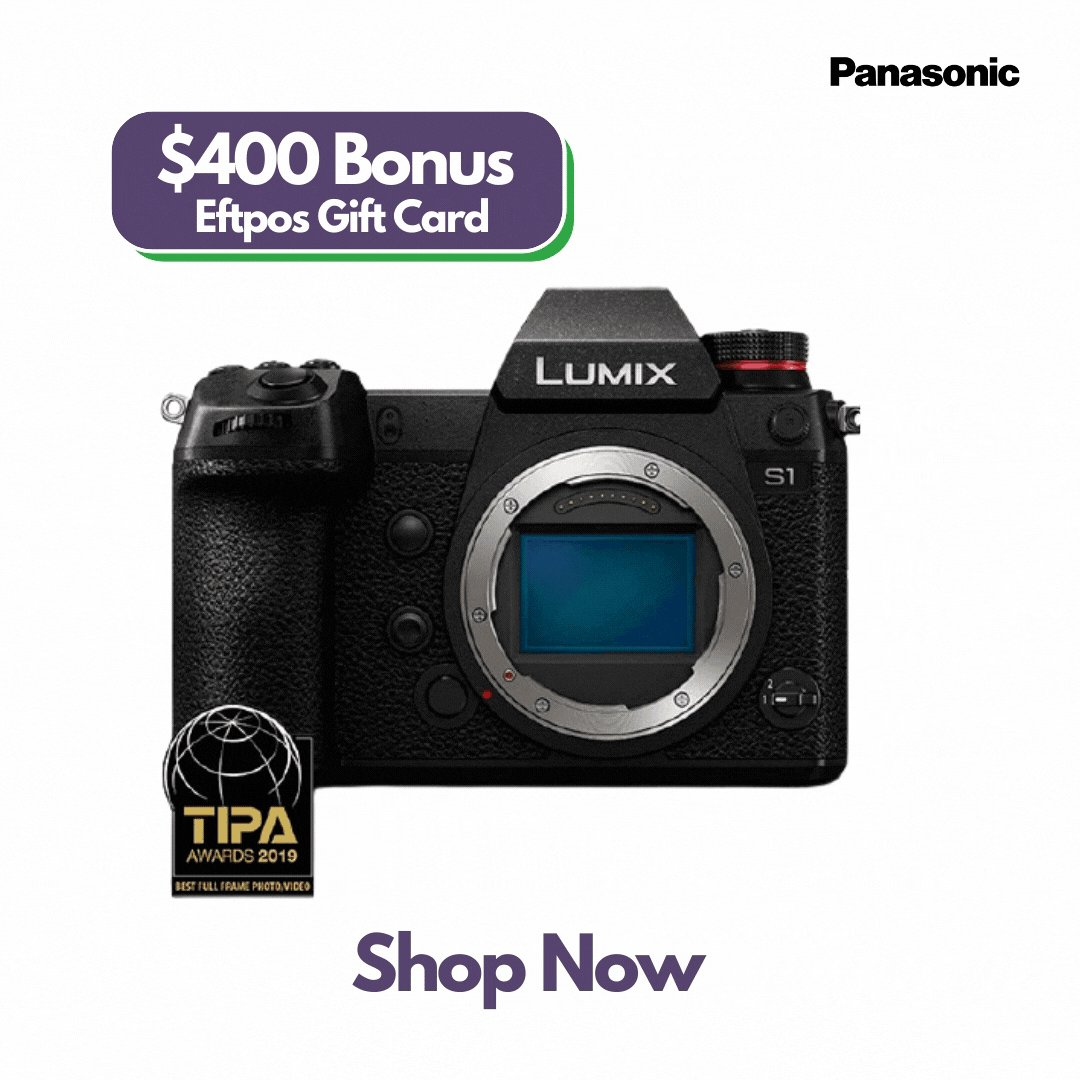 Ultimate Hybrid: Professional Video, Stunning Stills.   Purchase a Panasonic Lumix S1 and Receive $400 Bonus EFTPOS Gift Card.   Buy Now! https://t.co/yr6M0UZulA   @PanasonicAU #lumix #sales #promo #photography #photo #Video #videoraphy https://t.co/Heaz6r9e4Q