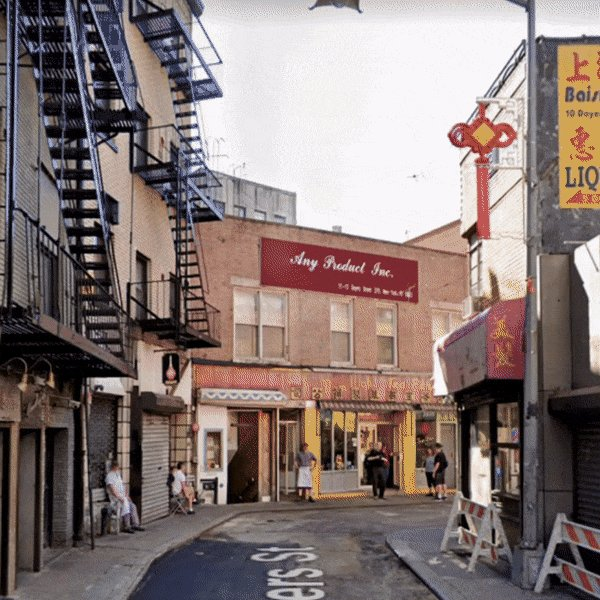 Doyers Street, past and present.   This historic street in Manhattan is home to the famous @NomWah, Chinatown NYC's oldest restaurant that's been serving dim sum since 1920. Celebrate  #LunarNewYear by supporting local businesses near you.   📸: @googlearts + @mocanyc