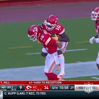 @BetMGM Mahomes and Hill seem to have way to fun together #kcchiefs