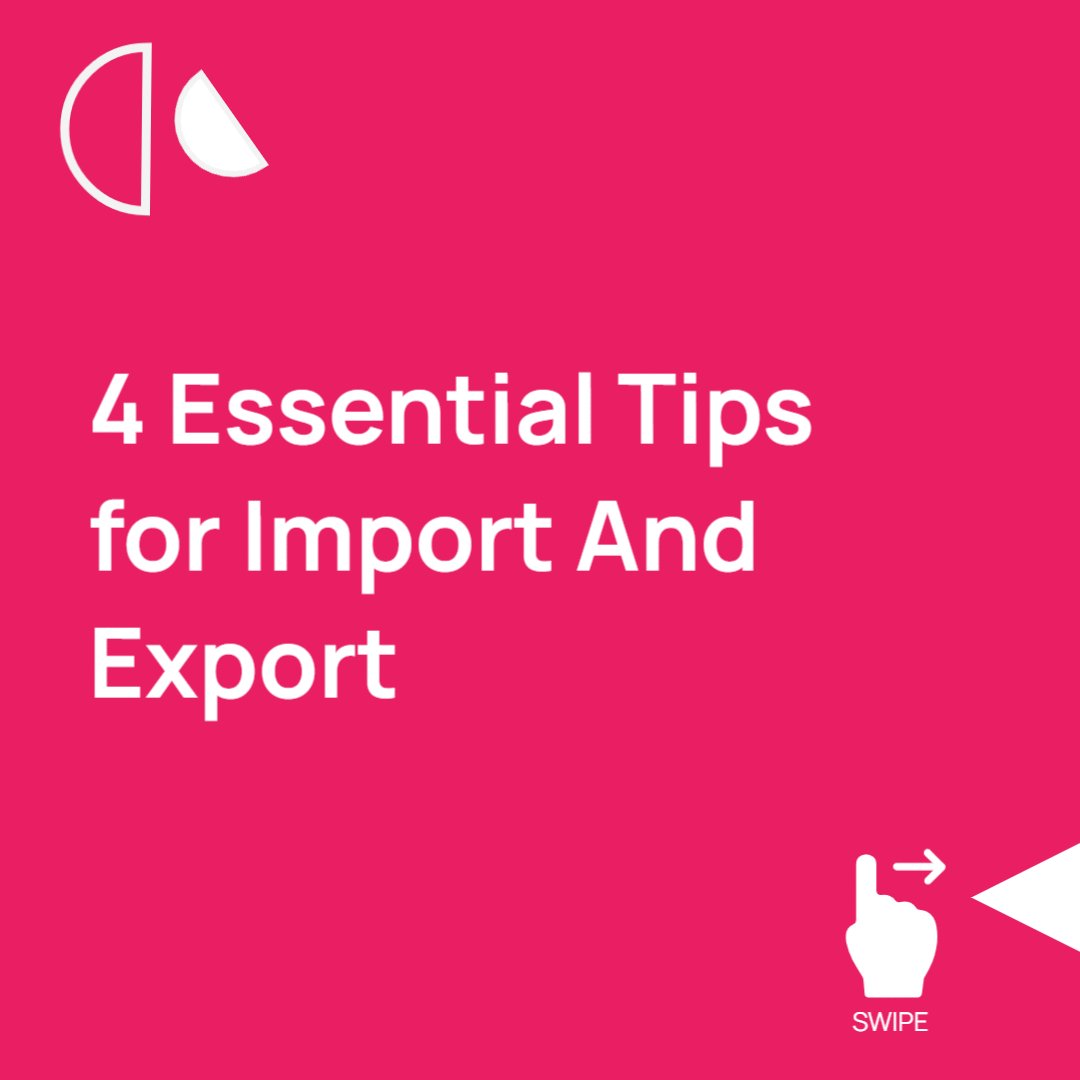 4 Essential Tips for Import And Export -: AICS @ArihantCourier contact us -: +91-7777-989-646 visit us at -:   #BusinessOwner #businessgrowth  #businesstips  #BustItChallenge  #bussinchallenge