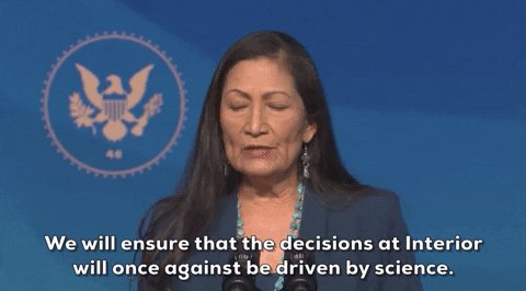 .@DebHaalandNM is a champion of science, climate justice, and frontline communities. She is a historic nominee who is historically qualified to lead the Department of the Interior. The Senate should confirm her without hesitation #DebForInterior