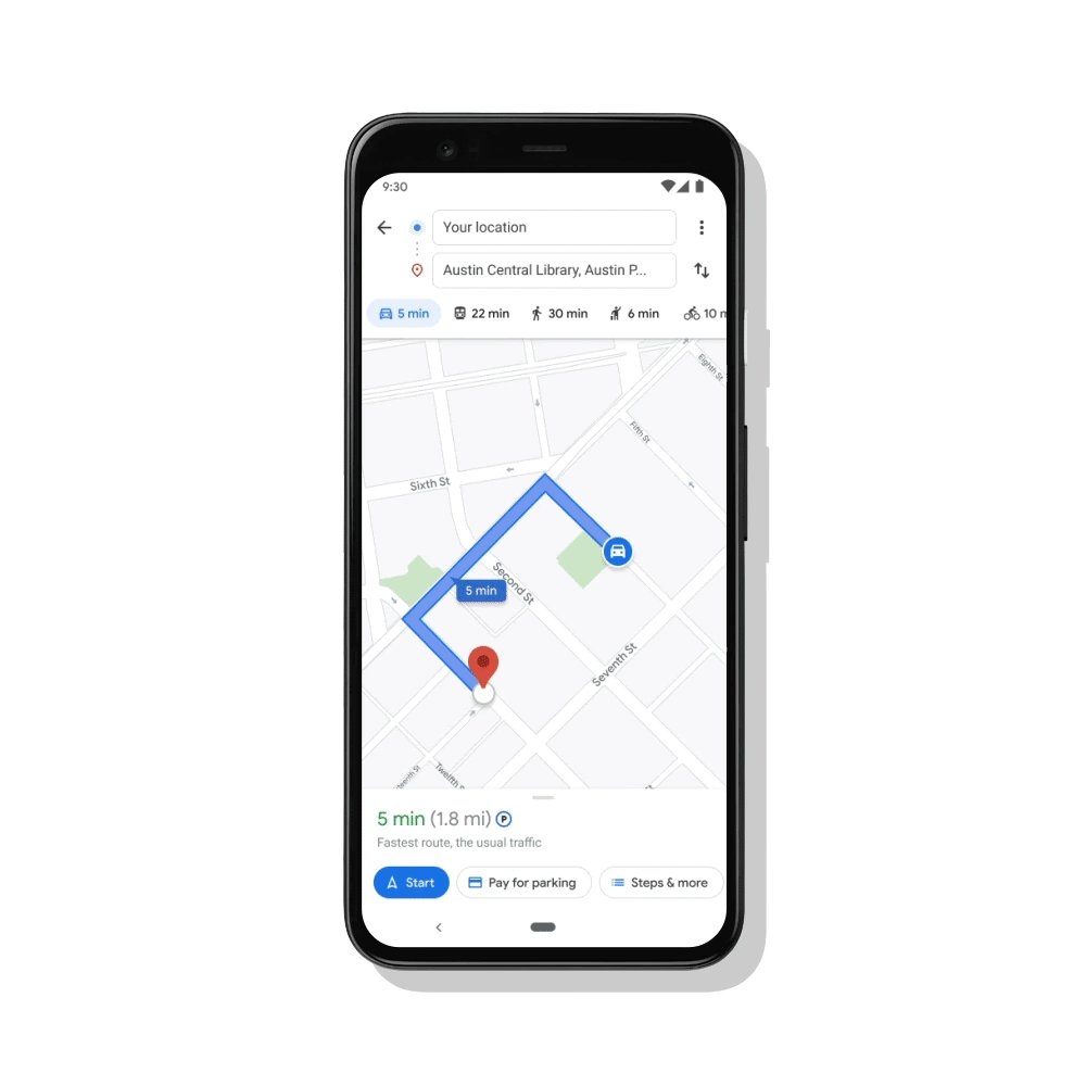 Starting today, you can pay for street parking directly on the @GoogleMaps app on Android with @GooglePay. Available now in 400+ cities in the U.S., with more rolling out in the coming weeks →