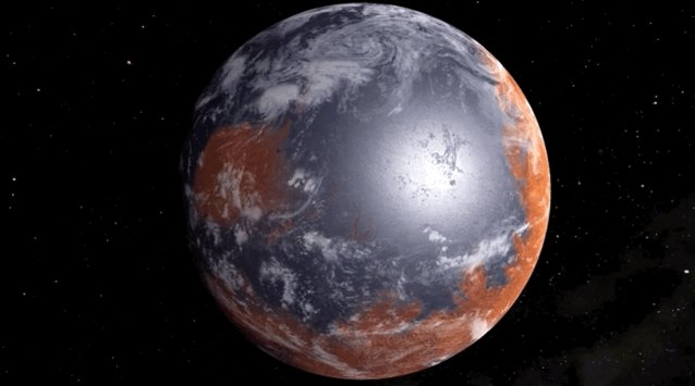 animation imagining Mars when it had water on its surface