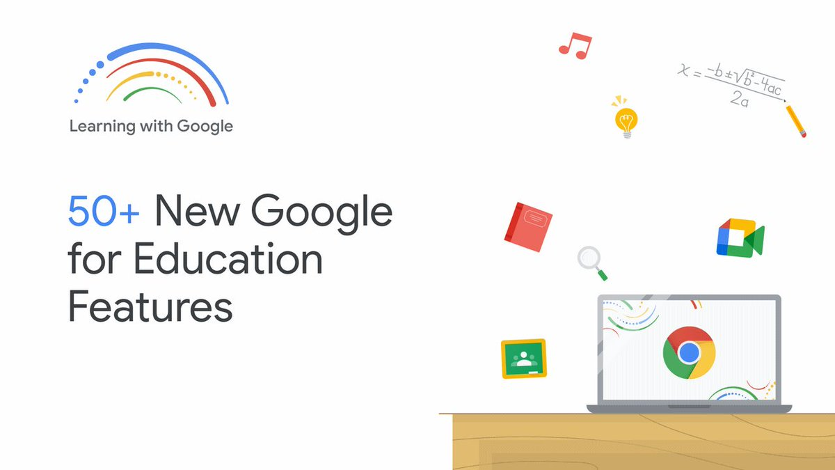 Learning is at the heart of what Google does. At our virtual  #LearningWithGoogle event this week, we shared 50+ new features across Google Workspace, Classroom, Meet and Chromebooks to help make learning and teaching better for everyone, anywhere.