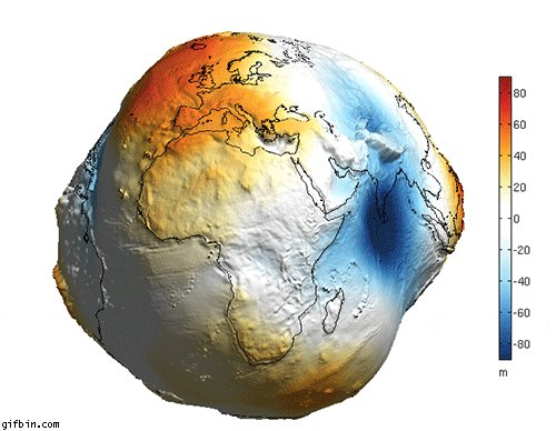 "Figura del geoide, la Tierra tiene forma de ""patata&quo"