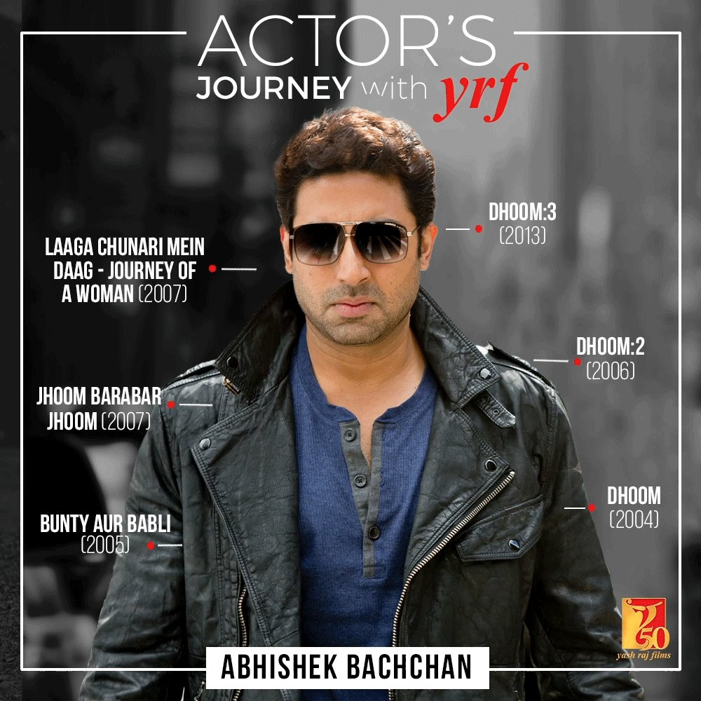 Replying to @yrf: Every role = Memorable 💯 #YRF50 | #AbhishekBachchan