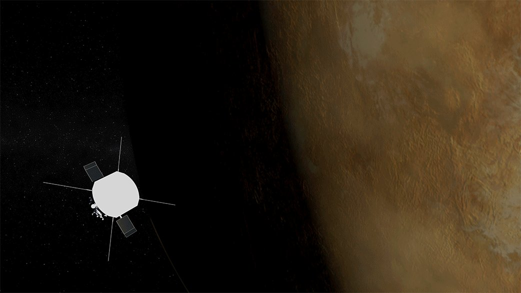 While @NASAPersevere settles into its new home on Mars, our #ParkerSolarProbe is making a quick visit to Venus. On Feb. 20, Parker performs its fourth Venus gravity assist, a maneuver that makes use of Venus' gravity to draw its orbit closer to the Sun. go.nasa.gov/3k6YWsF