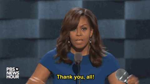 michelle obama mic drop GIF...
