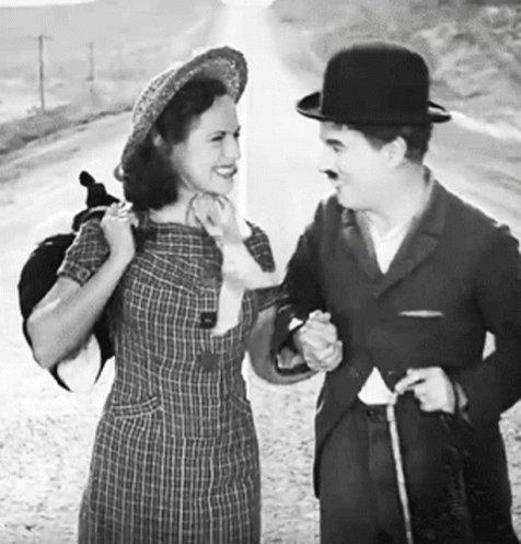 Chaplin Smile GIF